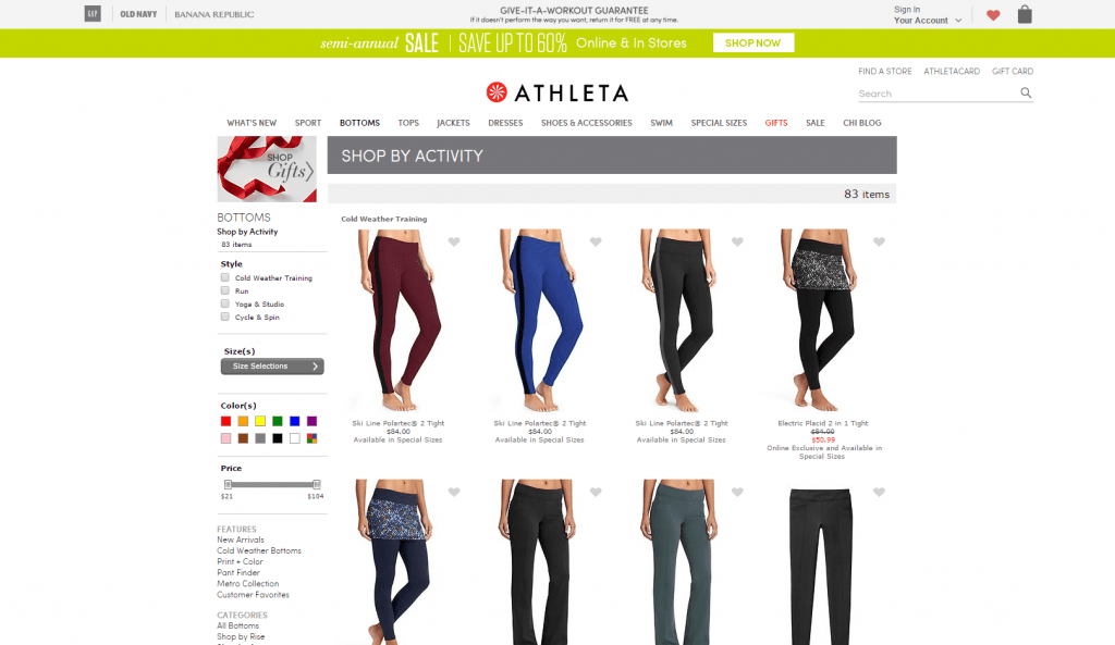 Pants and Bottoms Shop by Activity Athleta
