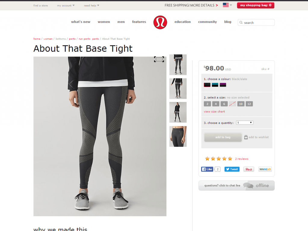 Lululemon about that base tight women s running pants lululemon athletica
