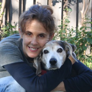 Cindy Brummer and Bennie, the standard beagle