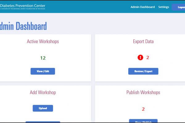 User experience design and development of Coaches Portal – National Kidney Foundation of Michigan