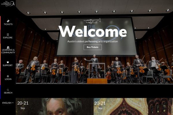 Redesign of the main website and Tessitura  – Austin Symphony Orchestra