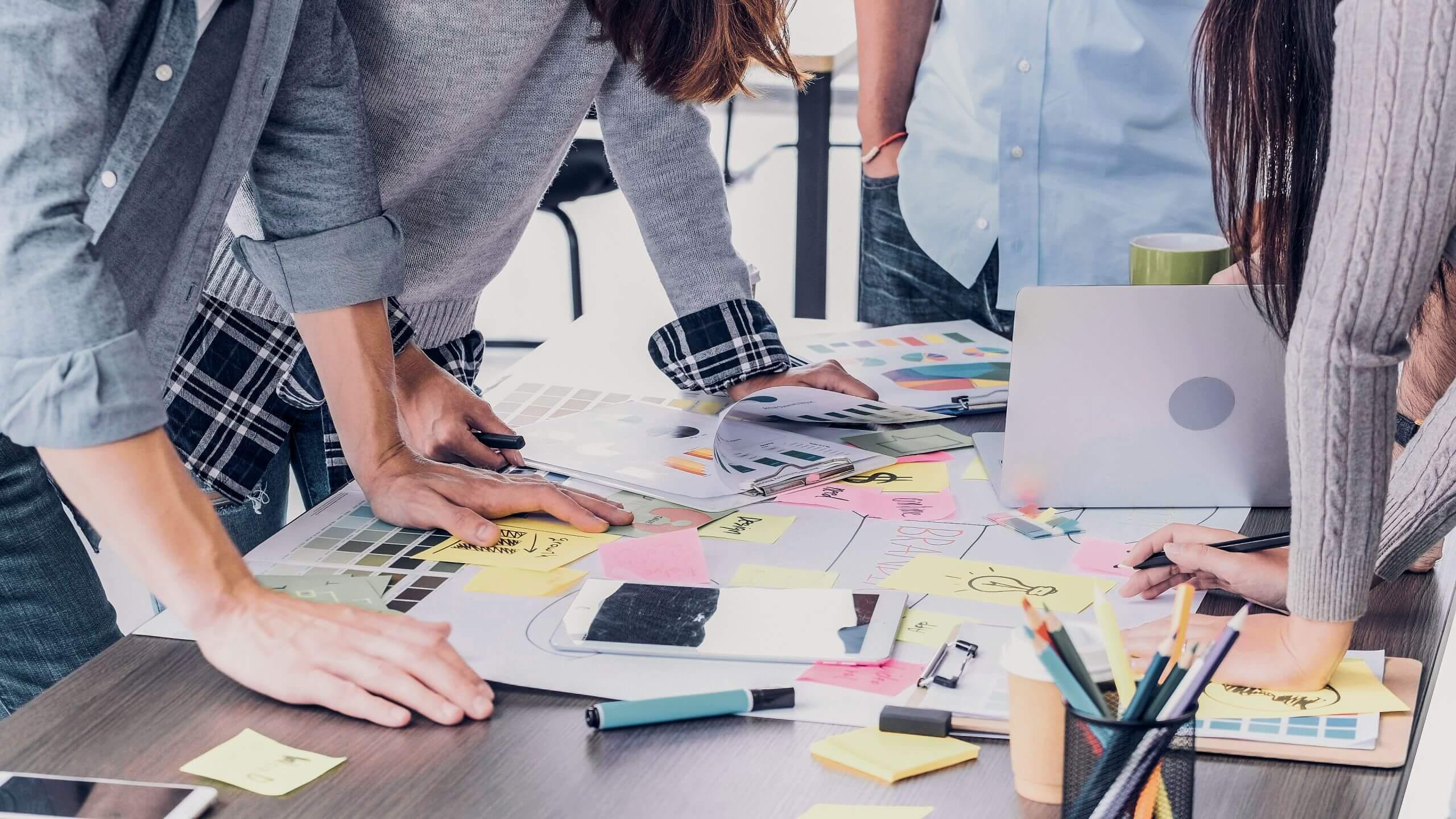UX design collaboration stock photo